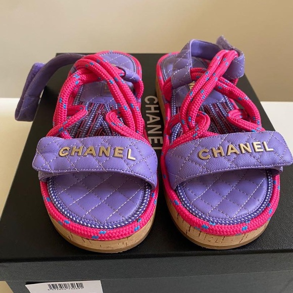 Chanel dad's sandals Size 37 pink purple